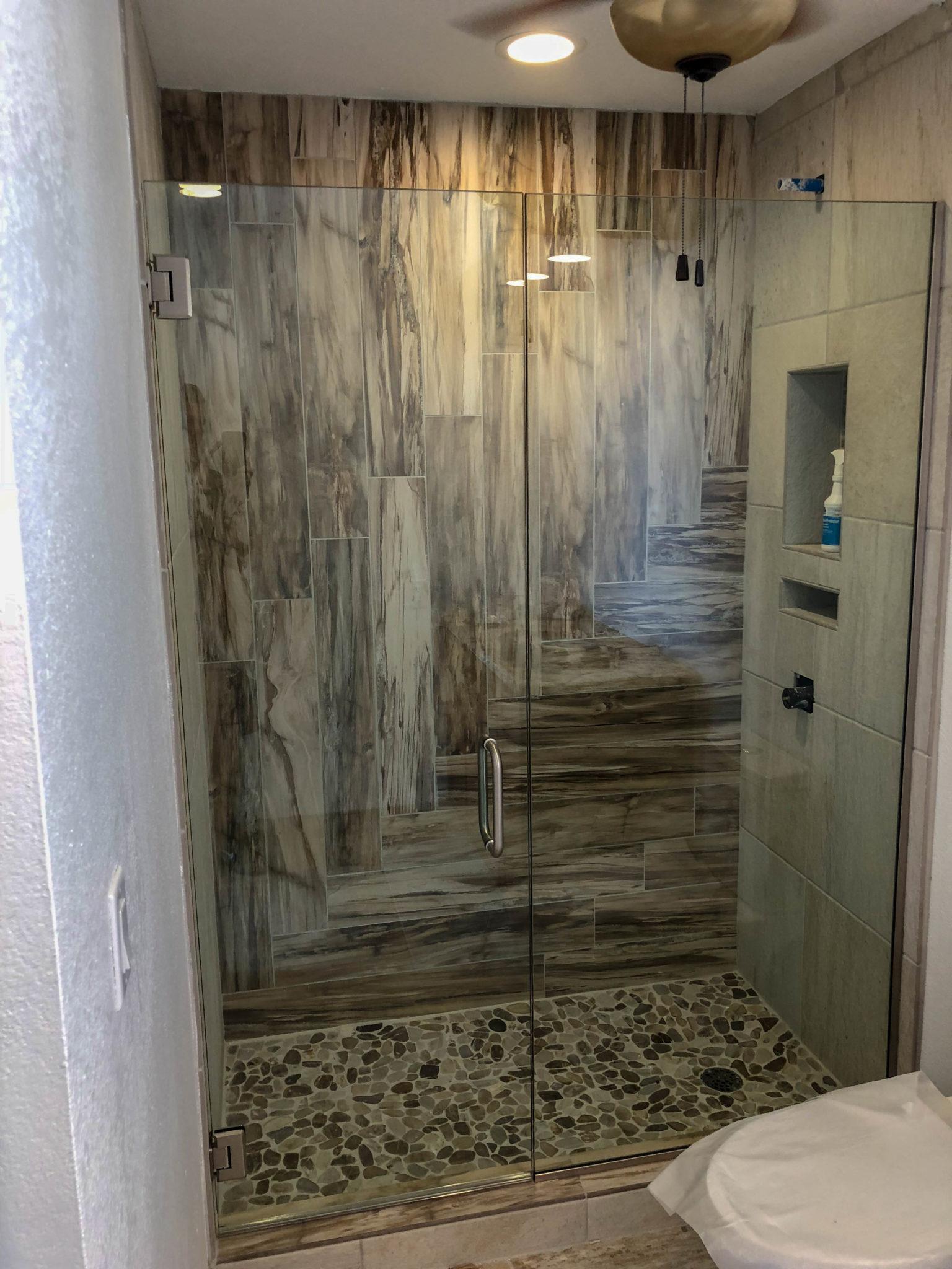 frameless glass shower door enclosure - kona glass hawaii