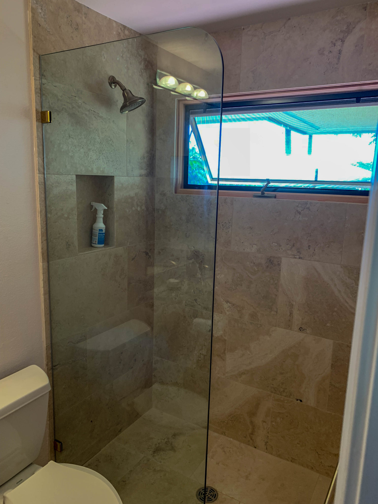 frameless glass shower - kona glass hawaii