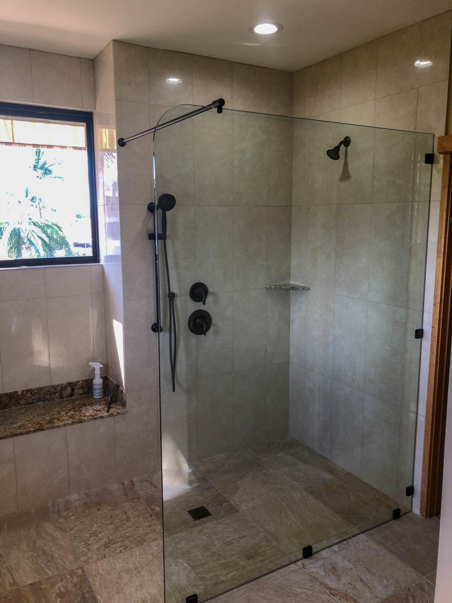 frameless glass shower - kona glass hawaii (2)
