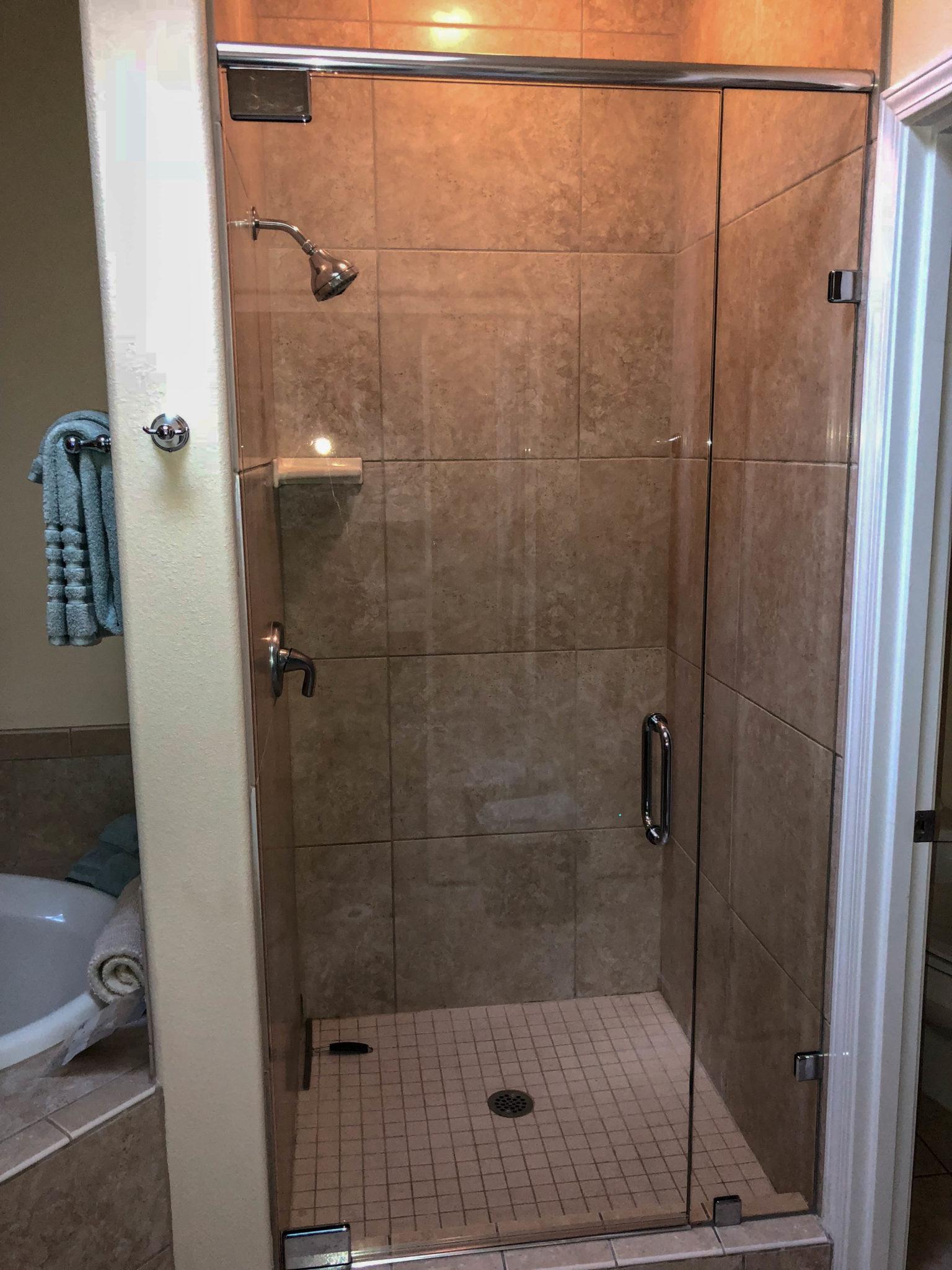 glass shower door - kona glass hawaii