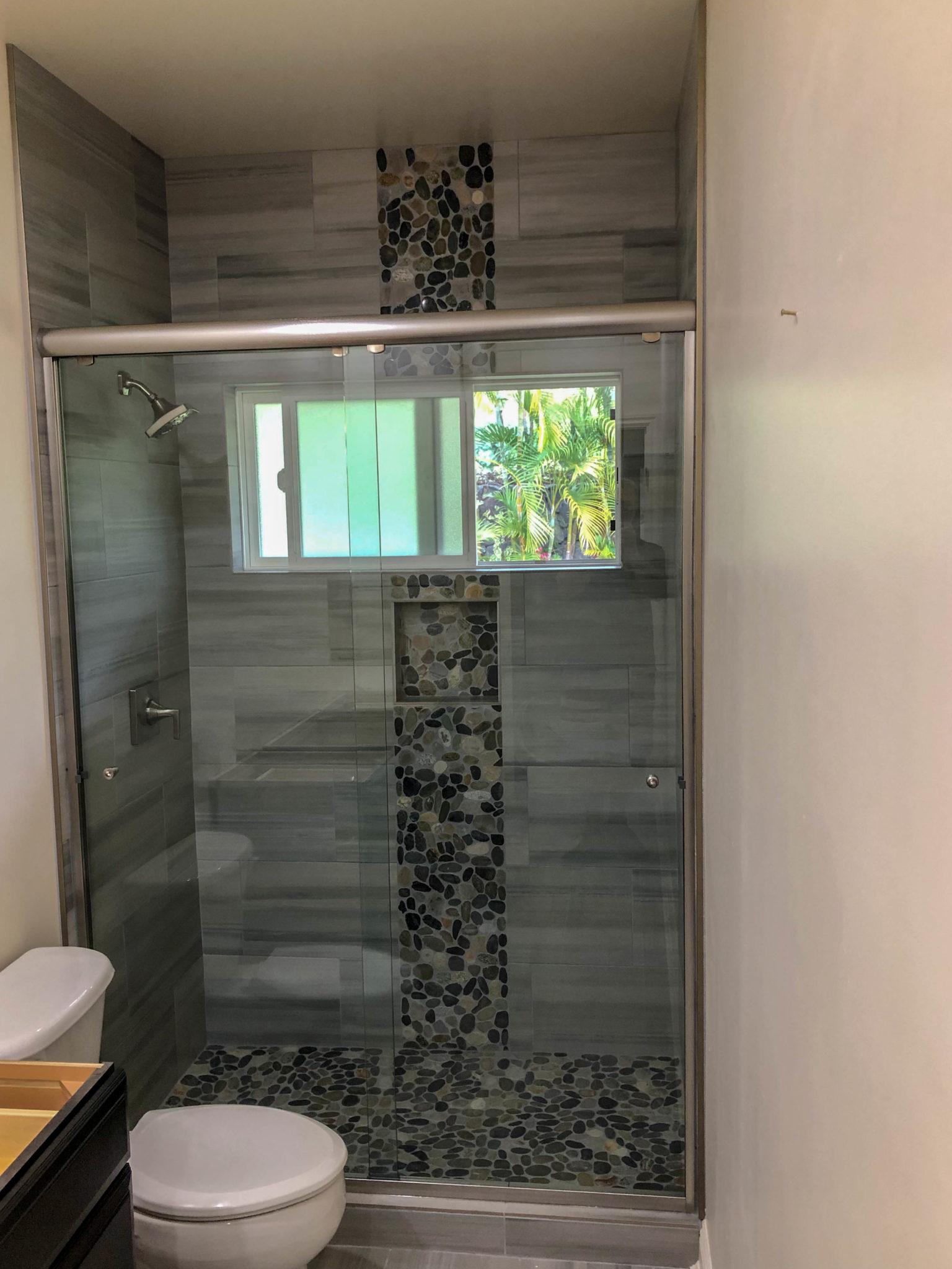 glass shower sliding doors - kona glass hawaii
