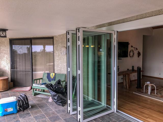 kona glass hawaii - folding glass patio door