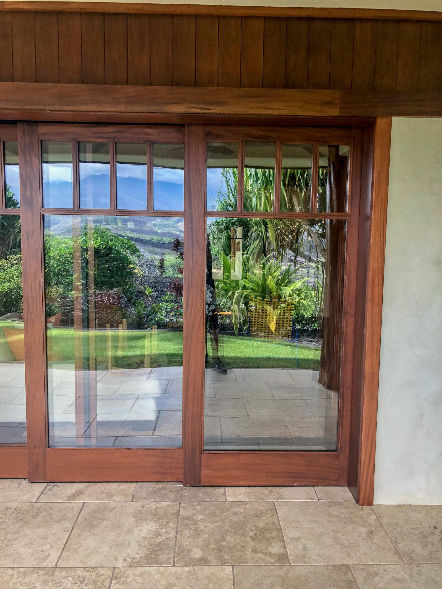 kona glass hawaii - sliding glass doors