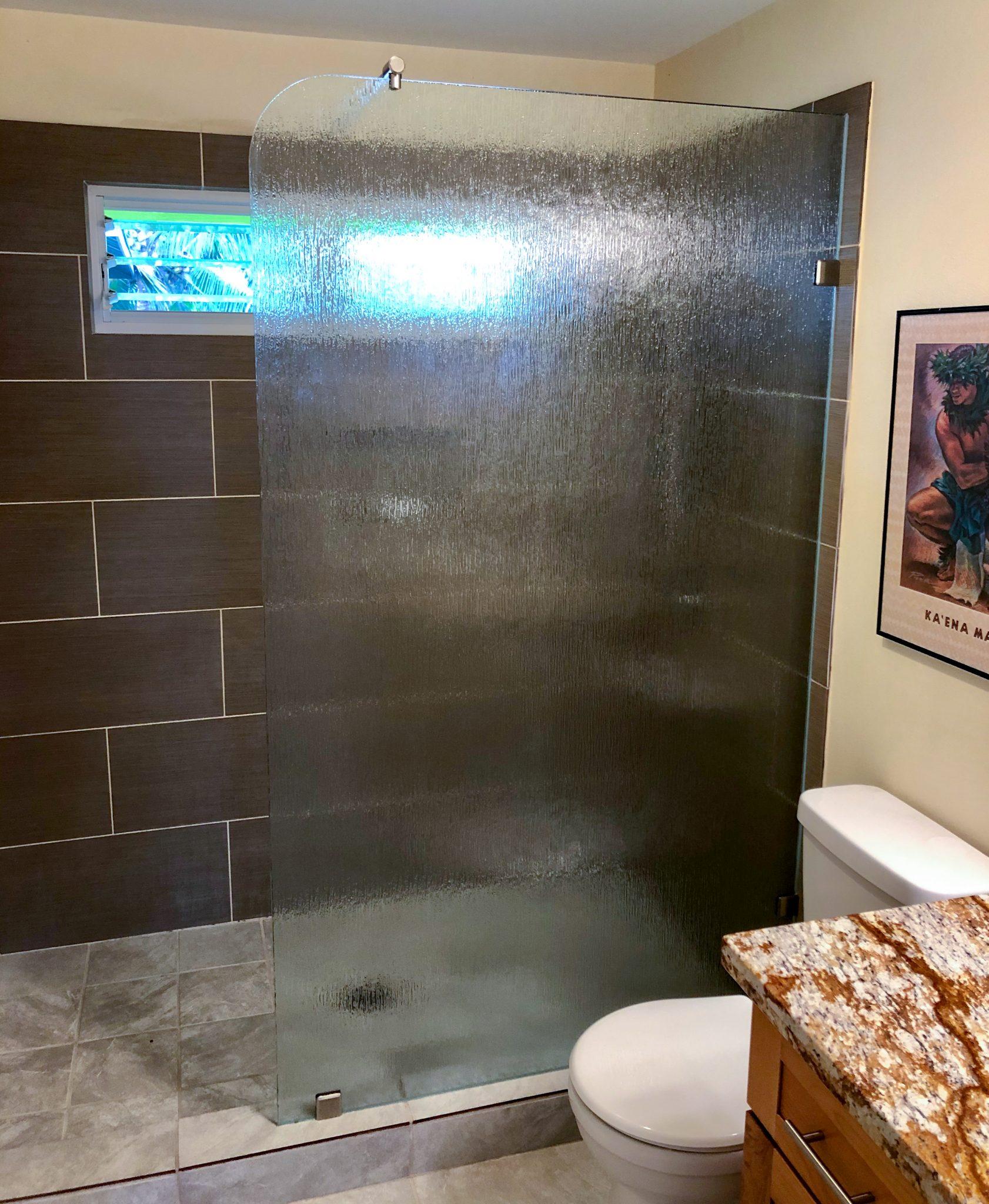 frameless glass shower wall installation - kona glass hawaii (4)
