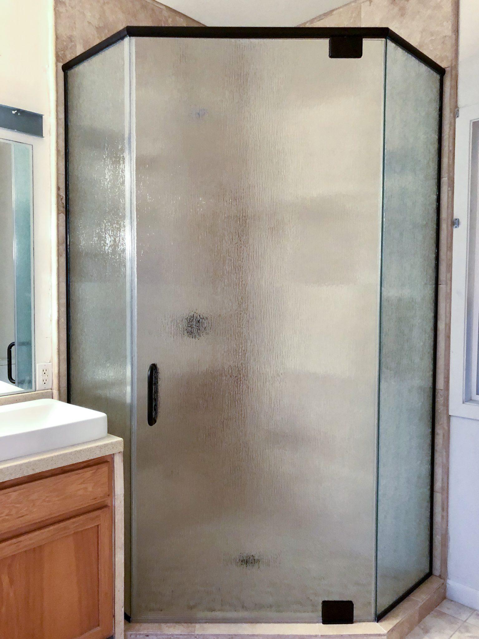 glass shower enclosure installation - kona glass hawaii