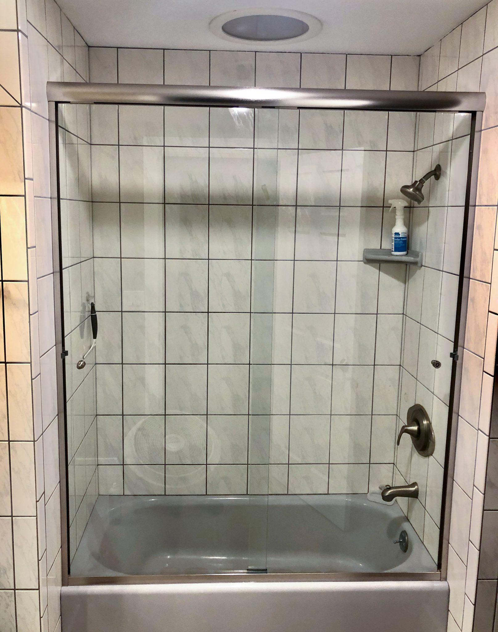 sliding glass shower door installation - kona glass hawaii.jpg